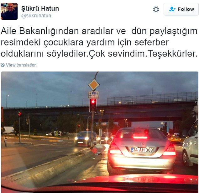 Fotoğrafı yayınlayan Şükrü Hatun, bugün Twitter hesabından yüreklere biraz da olsun su serpen bir haber verdi.