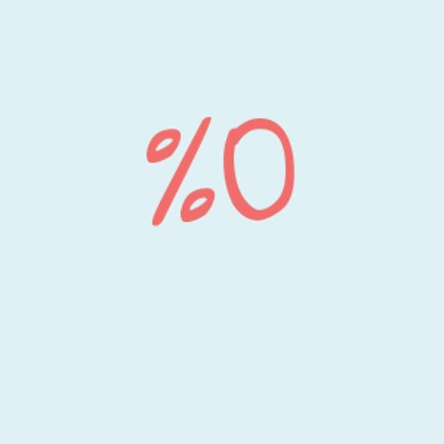 Yüzde 0!