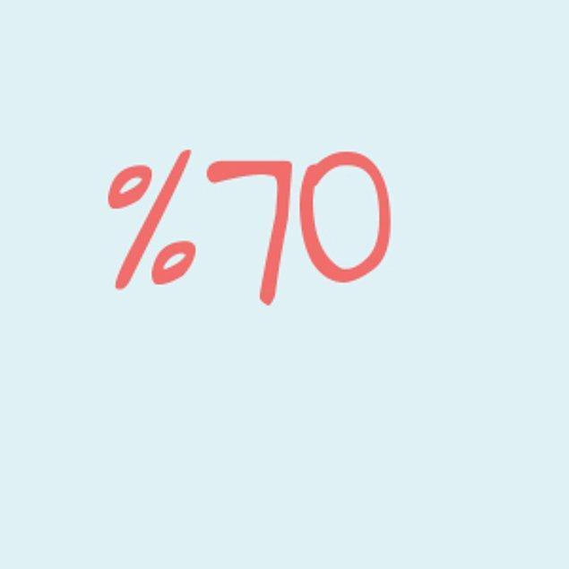 Yüzde 70!