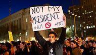 22 Fotoğraf ile Amerika'da Trump Protestoları: 'Benim Başkanım Değil'