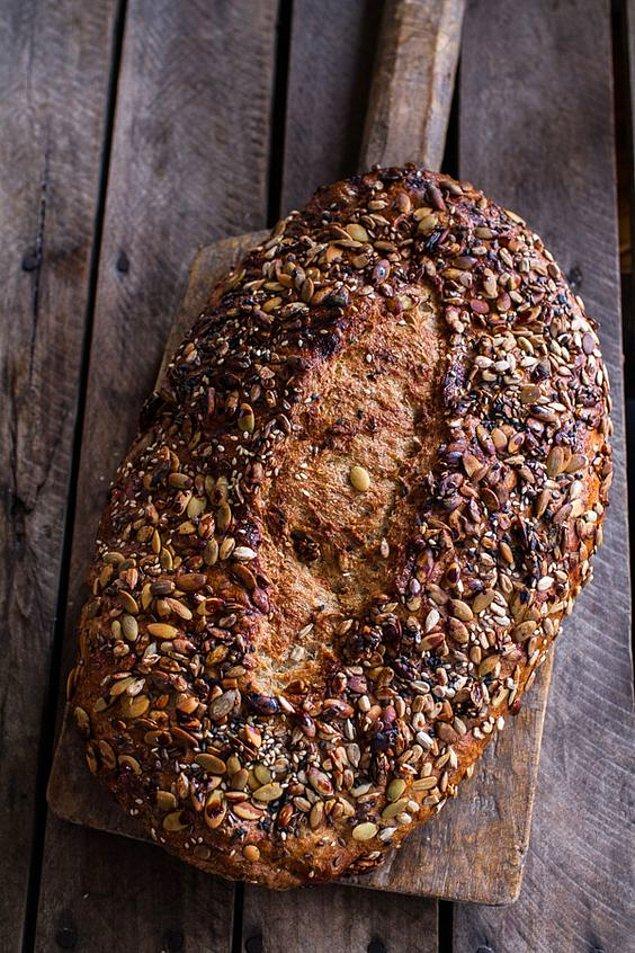 3. Glutensiz chia tohumlu ekmek