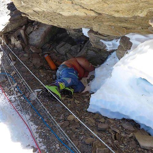 Blue Shoes Mount Everest