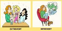 12 Illustrations Showing The Characteristics of Introverts & Extroverts!