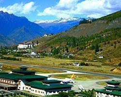 8- Paro Airport, Bhutan