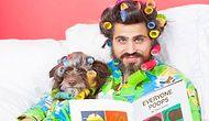 10 Hilarious Photos Of Man And His Puppy Dressed Like Twins In Matching Outfits