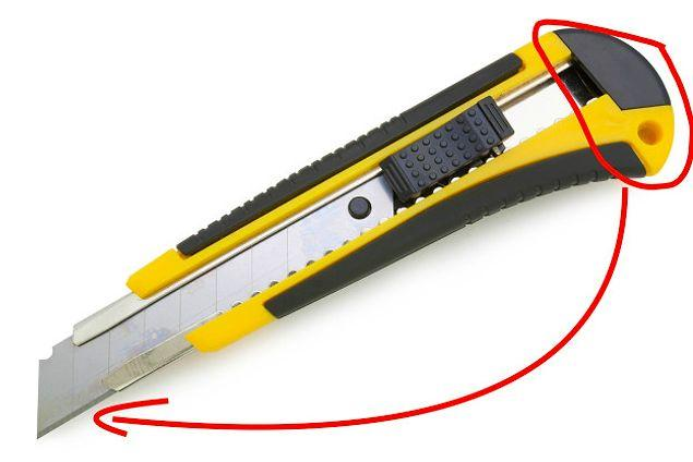 Почему лезвие канцелярского ножа имеет полоски?