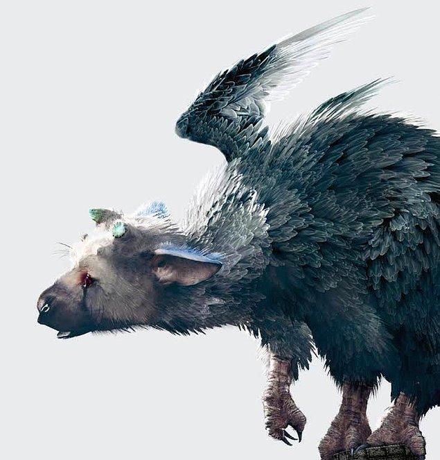 Trico'nun vücudunda birkaç hayvandan esintiler bulunuyor. Oldukça değişik bir karakter diyebiliriz.
