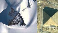 Stunning! Mysterious Snow Pyramids Discovered In Antartica