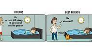 11 Illustrations Summing Up The Differences Between Friends & Best Friends!