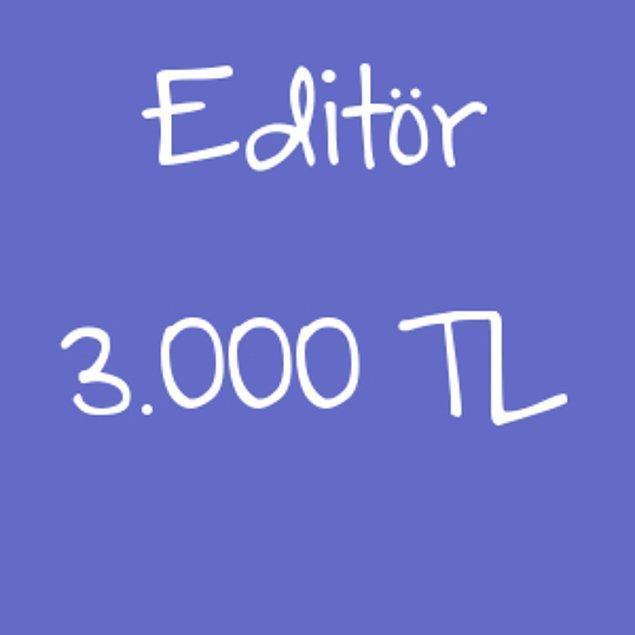 Editör - 3.000 TL!