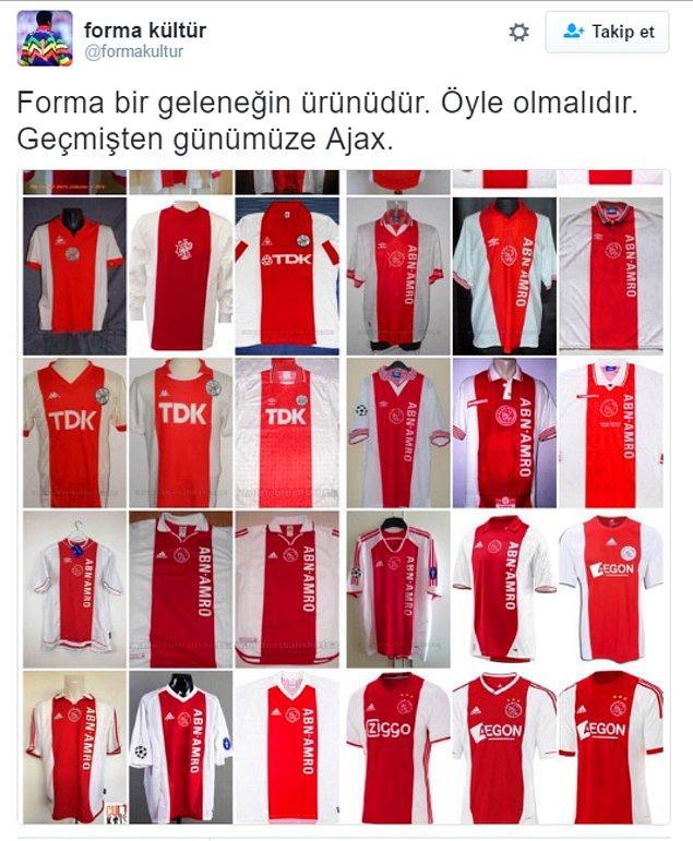 3. Geçmişten geleceğe Ajax'ın değişmeyen forması.