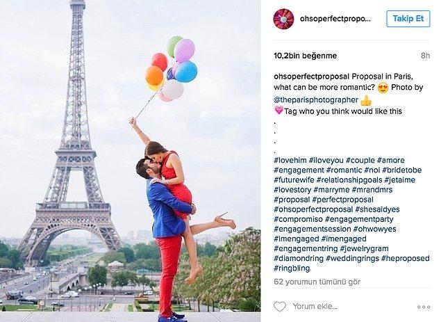 13. Romantizmde çıtayı Eiffel'e çıkarmak.