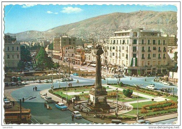 Şam'daki Marjeh Meydanı'nın 60larda nasıl göründüğünü anlatan fotoğraf...