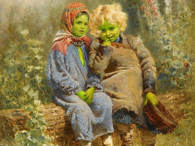Yeşil renkli deri, halsizlik, iştahsızlık arsenik zehirlemesinin karakteristik özelliğidir.