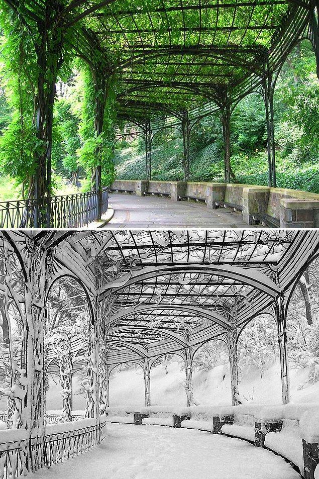 8. Pergola Sera, Central Park, New York, ABD