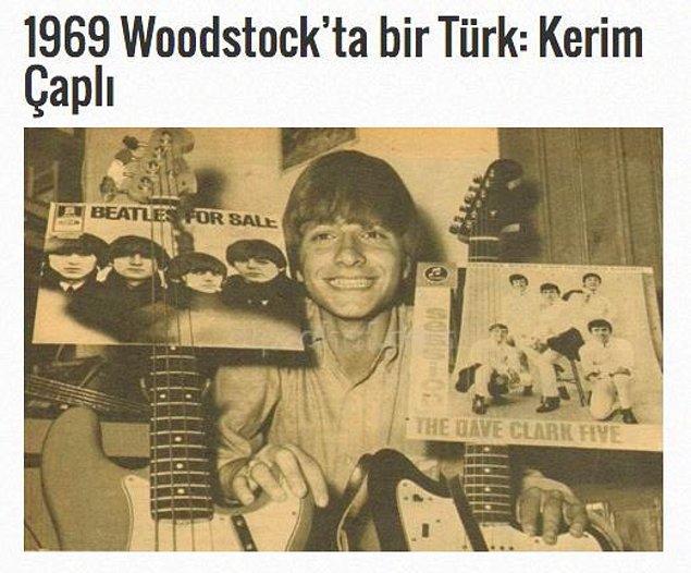 1969 Woodstock'ta bir Türk: Kerim Çaplı