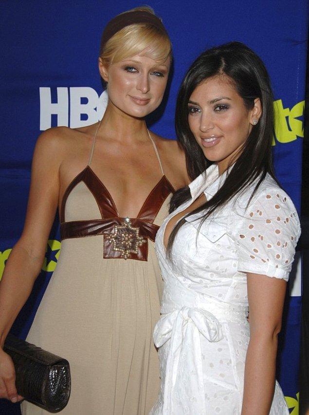 """1. Yıl 2006, Kim Kardashian'ın """"Paris Hilton'un arkadaşı"""" olarak tanındığı zamanlar."""