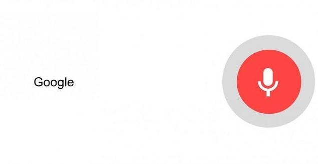 И последняя, но очень важная особенность. Если вы по какой-либо причине не можете написать в поисковую строку (например, у вас клавиатура сломалась), вы можете нажать на эту красную кнопку и просто произнести вслух то, что вы хотите найти.