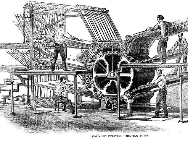 Станок, изобретенный Буллоком, упал ему на ногу, вследствие чего образовалась гангрена, и он умер во время ампутации ноги