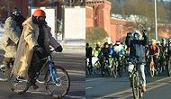 Как отреагировали москвичи на велопарад, проведенный в 30-градусный мороз?