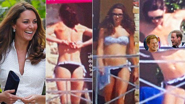 Затем, в 2012 году, Кейт решила позагорать без верха.