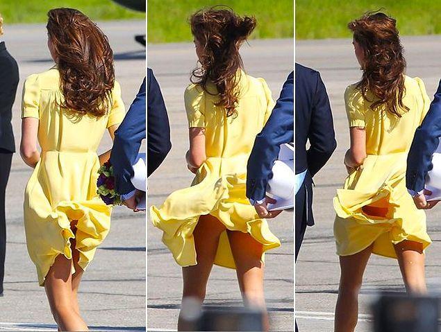 После таких фотографий в прессе Елизавета основательно взялась за гардероб Кейт.