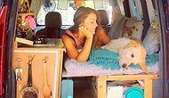 Женщина превратила старый минивэн в домик на колесах, чтобы путешествовать со своей собакой