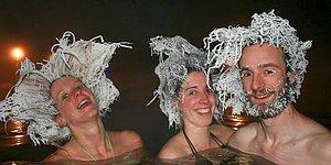 The Hair Freezing Contest Of The Takhini Hotsprings!