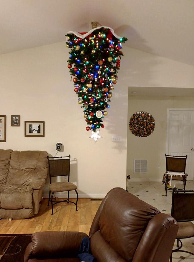 Image result for christmastree on ceiling""