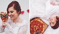 Эта девушка устроила свадебную фотосессию с... пиццей 🍕🍕🍕