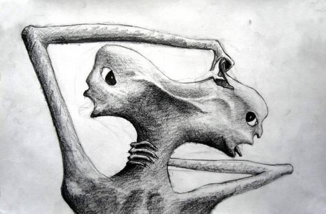 17 Creepy Drawings By Schizophrenics To See The World Through Their