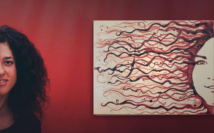 artist used her 9 months of menstrual blood to paint a fetus
