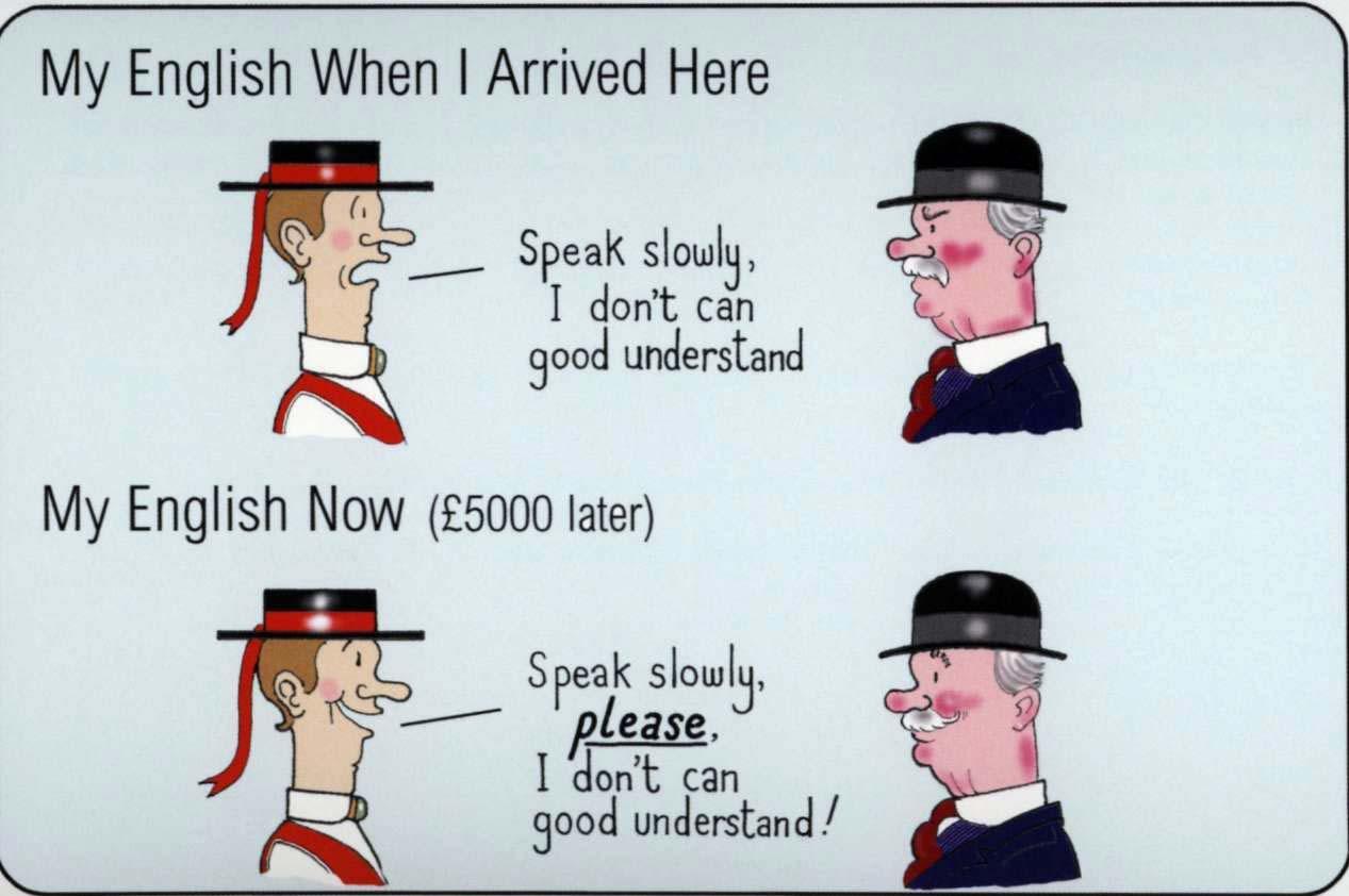 Английскому жопа языку по