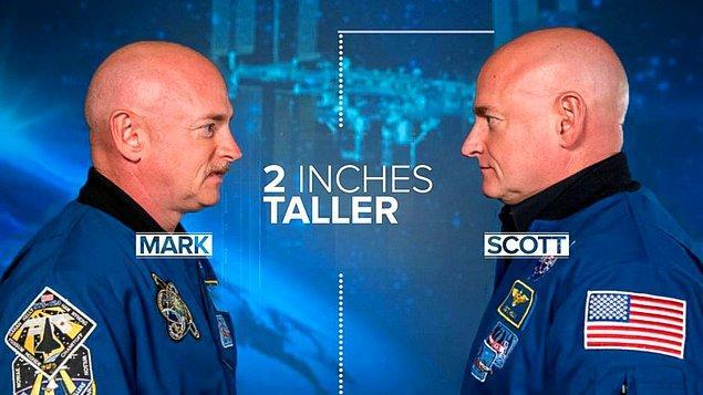 Sonuçlardan birisi de uzayda bulunan Scott'un boyunun tam 5 cm uzaması.
