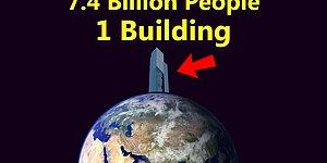 What If The 7.4 Billion People In The World Lived In One Single Building?