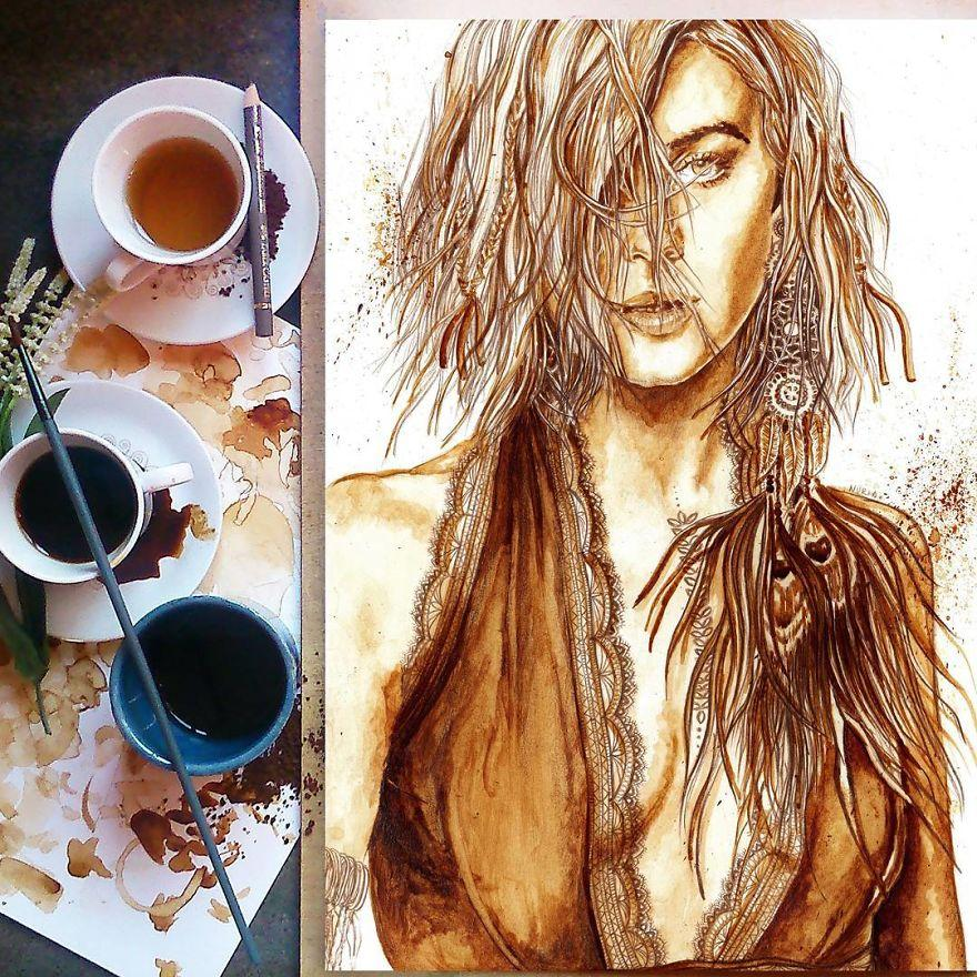 время рисование кофе женщина миру в награду дана местного извращенца конечно