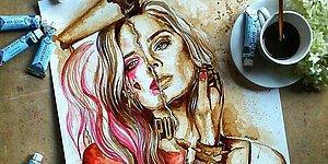 Девушка рисует невероятные картины с помощью кофе!