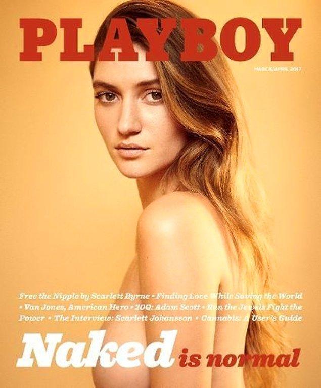 """Pazarlama manşetinde """"Çıplaklık normaldir,"""" diyen genç yönetici Cooper Hefner, çıplak kadınların dergiye dönüşünün hem kişisel hem de profesyonel olarak çok önemli bir dönüm noktası olduğunu belirtti."""