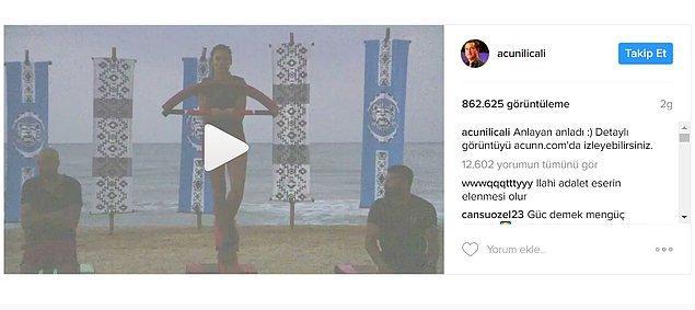6. Acun Ilıcalı ise Instagram hesabından iddialara cevap verdi ve o anın başka bir açıdan görüntüsünü yayınlayarak söylenenleri yalanladı.