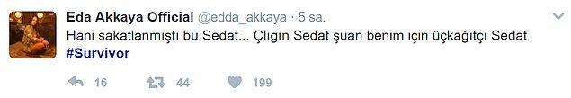 Çılgın Sedat'ın sakatlık sebebiyle yarım bıraktığı oyun da tepkilerden nasibini aldı. Hatta bu hareketi konseyde Acun Ilıcalı tarafından eleştirildi.