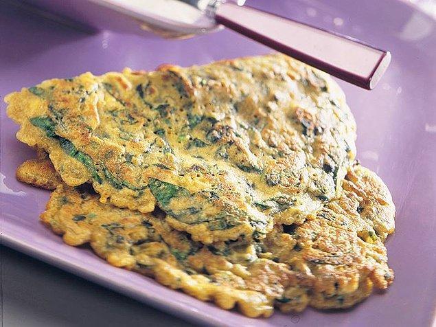 7. Otlu bir omlet.