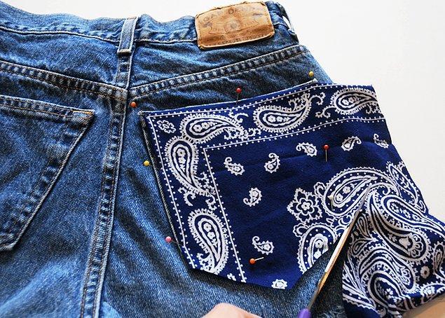 Kot ceplerini renkli, desenli kumaşlarla kaplayabilirsiniz.