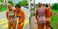 Furious Wife Makes Cheating Husband's GF Walk Naked In The Street!