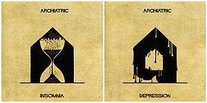 Художник использовал архитектуру, чтобы объяснить 16 психических заболеваний и расстройств