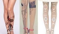 10 потрясающих колготок с имитациями татуировок