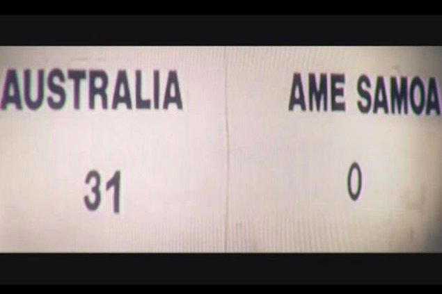 Milli maçlardaki en farklı galibiyeti 2001'de oynanan Dünya Kupası eleme maçında Amerikan Samoası'nı 31-0 yenen Avustralya elde etti.