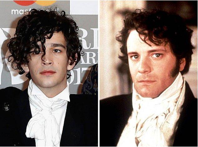 16. Mr Darcy'nin ikizi gibi görünen Matt Healy...