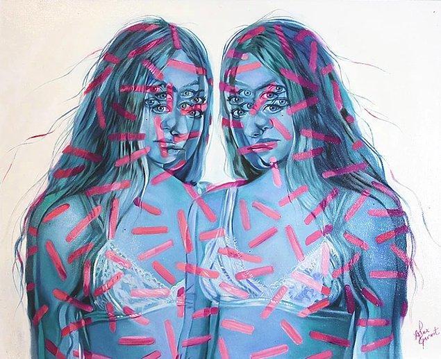 Tüm portreleri genç kadın temalı olan sanatçı, Kanada ve Amerika başta olmak üzere birçok ülkede sergiler düzenliyor.