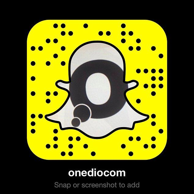 Onedio'yu Snapchat'te takip etmek için aşağıdaki linke tıklayabilirsiniz :)