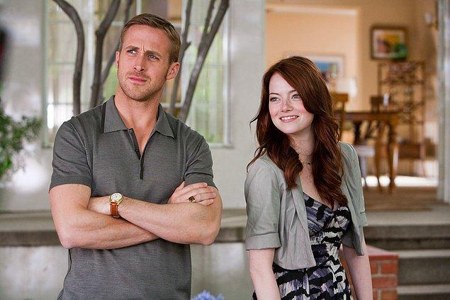 """#5 La La Land'deki rol arkadaşı Ryan Gosling'le yine enfes uyum sağladığı """"Crazy, Stupid, Love. (2011)"""""""